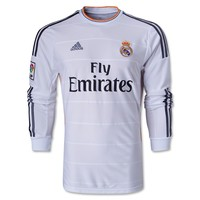 Real Madrid 13/14 LS Home Soccer Jersey - WorldSoccerShop.com