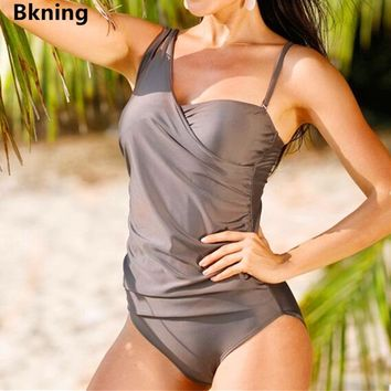 Bkning 6XL Large Size Swimwear One Piece Bathing Suit Women Swimsuit Female Plus Badpak Strappy Sheer Solid Monokini S 4XL 5XL