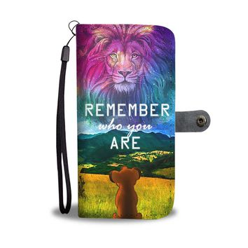PEAPV4S Remember Who You Are The Lion King Wallet Phone Case
