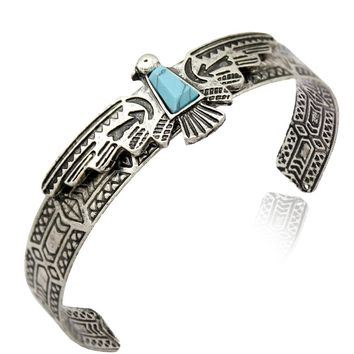 Vintage Antique Carve Eagle Navajo Cuff Bangles