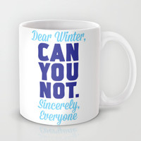 Dear Winter Mug by LookHUMAN