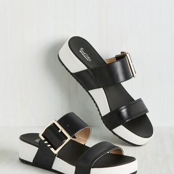 On My Buckle List Sandal in Black | Mod Retro Vintage Sandals | ModCloth.com