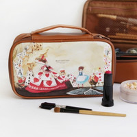 Large Alice Brown Cosmetic Pouch