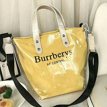 Burberrys Popular Personality Women Satchel Shoulder Bag Handbag Tote(7-Color) Yellow I-WXZ2H