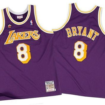 CREYNW6 Mitchell Ness Kobe Bryant 19989 Authentic Jersey Los Angeles Lakers In Purple