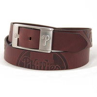 Philadelphia Phillies MLB Men's Embossed Leather Belt (Size 36)