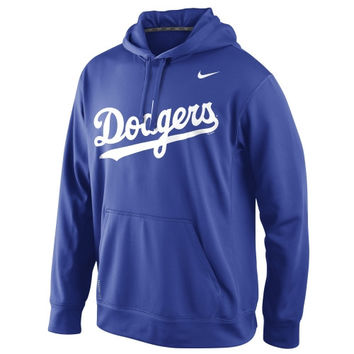 Nike L.A. Dodgers MLB Wordmark Performance Pullover Hoodie - Royal Blue