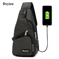 """Free Shipping"" Oxford Men Or Women Sling Shoulder Back Pack For Travel With Phone Charger"