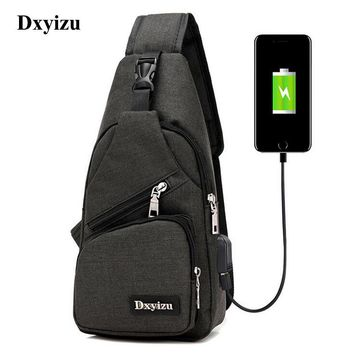 """""""Free Shipping"""" Oxford Men Or Women Sling Shoulder Back Pack For Travel With Phone Charger"""