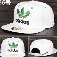 Adidas Performance Max Side Hit Baseball Cap Golf Hat Relaxed Fit white green logo