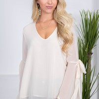 Vanilla Bean Sheer Top