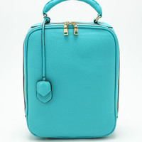 TURQOUISE SQUARE BACKPACK