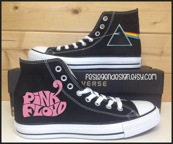 pink floyd dsom custom converse from feslegendesign on