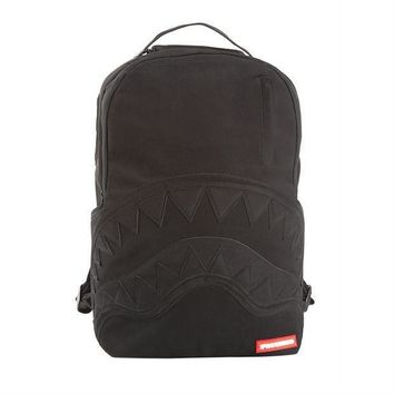 Sprayground Black Ghost Shark Nubuck Suede Backpack Black