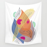 Modern minimal forms 21 Wall Tapestry by naturalcolors