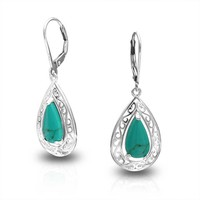Bling Jewelry Classy Tear Earrings