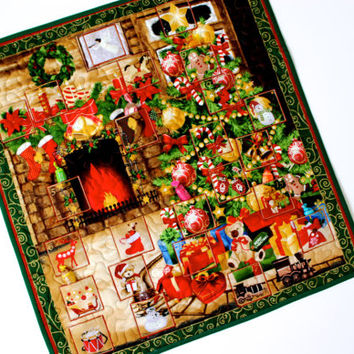 Advent Calendar - Quilt Wall Hanging - Christmas Tree - Fireplace - Activity Panel