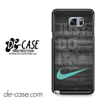 New Nike Mint Just Do It Wooden For Samsung Galaxy Note 5 Case Phone Case Gift Present