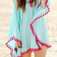 Multi Color V-Neck Cover-Up