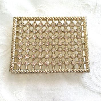 Vintage Rhinestone Belt Buckle Sash Buckle Wedding Bride