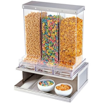 17.5Wx13.5Dx24H Urban 3 Section Cereal Display