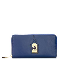 Lauren Ralph Lauren Aiden Leather Zip Wallet