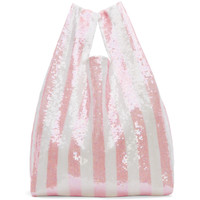 SSENSE Exclusive Pink Striped Sequin Tote