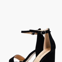 Lois Two Part Block Heels | Boohoo
