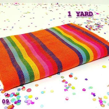 Serape zerape sarape, Ethnic fabric by the yard, Mexican party decorations.