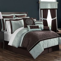 Lenox 16-pc. Bed Set - Cal. King (Brown)