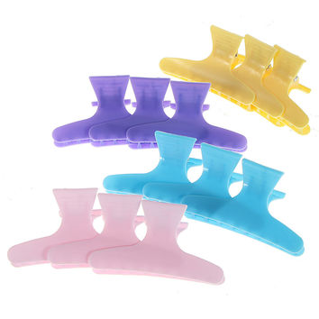 12 Pcs Colorful Butterfly Hair Salon Section Clip Clamps Hairdressing Tool