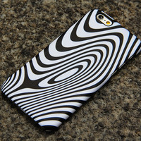Minimalist Wave Stripes iPhone 6 iPhone 6 plus iPhone 5S 5 iPhone 5C iPhone 4S/4 Samsung Galaxy S6 edge S6 S5 S4 Note 3 Case Black White 014