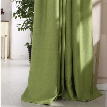 Modern simple chenille blackout window shower curtain panel for baby bedroom