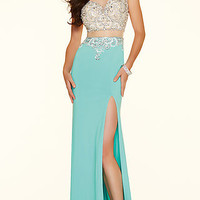 Long Illusion Sweetheart Cap Sleeve Prom Dress ML-98008 by Mori Lee
