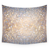 Society6 Glimmer Of Light Ombre Glitter Abstract Wall Tapestry