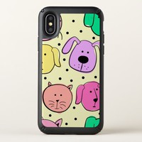Cute Colorful Pet Pattern iPhone X Case