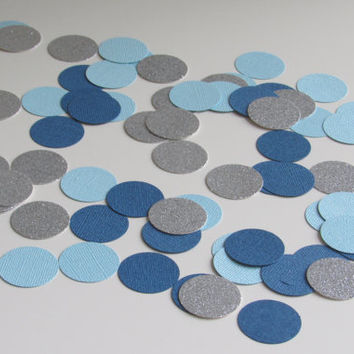 Blue, Pink, Yellow, Gray, Silver, Gold Confetti - 75 Pieces