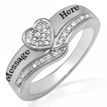 Kay - 1/10 Ct. tw Diamond Heart Ring Sterling Silver