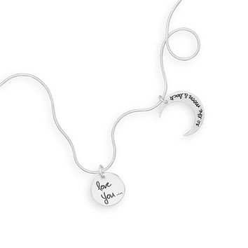 """18"""" Love You to the Moon and Back Charm Necklace"""