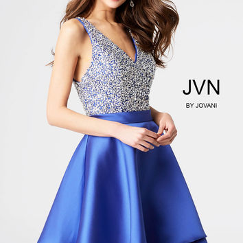 Jovani JVN54740 Embellished Bodice Dress with Satin Skirt