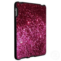 Hot pink princess girly glitter sparkle iPad case from Zazzle.com