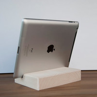 iPad Stand. Wooden iPad Stand. Pine Wood iPad Stand. Nexus 10 Stand. iPad Wood Dock Station. Wood Tablet Stand