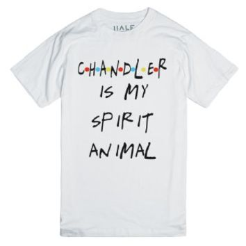 Chandler is my Spirit Animal-Unisex White T-Shirt