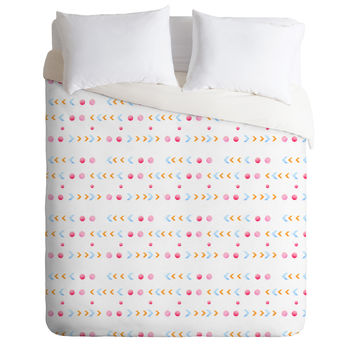 Laura Redburn Dot Dot Chevron Duvet Cover