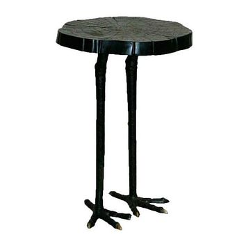 Ostrich Iron Side Table