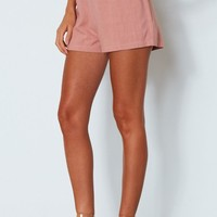 Be My Lover Shorts Terracotta Rose