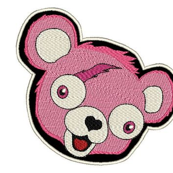 Fortnite Pink Bear Face Iron On Patch (4 sizes to choose from)
