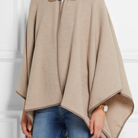 Max Mara - Verbas leather-trimmed wool cape