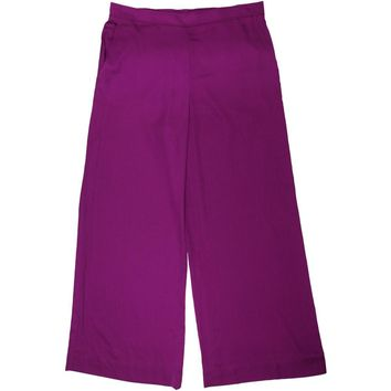 Lauren Ralph Lauren Womens Wide Leg Flat Front Casual Pants