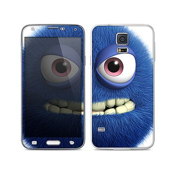 The Angry Blue Fury Monster Skin For the Samsung Galaxy S5